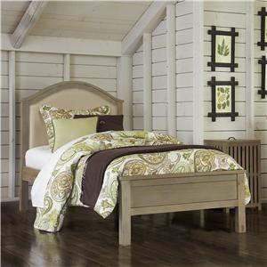 NE Kids Highlands Twin Bailey Arch Upholstered Bed