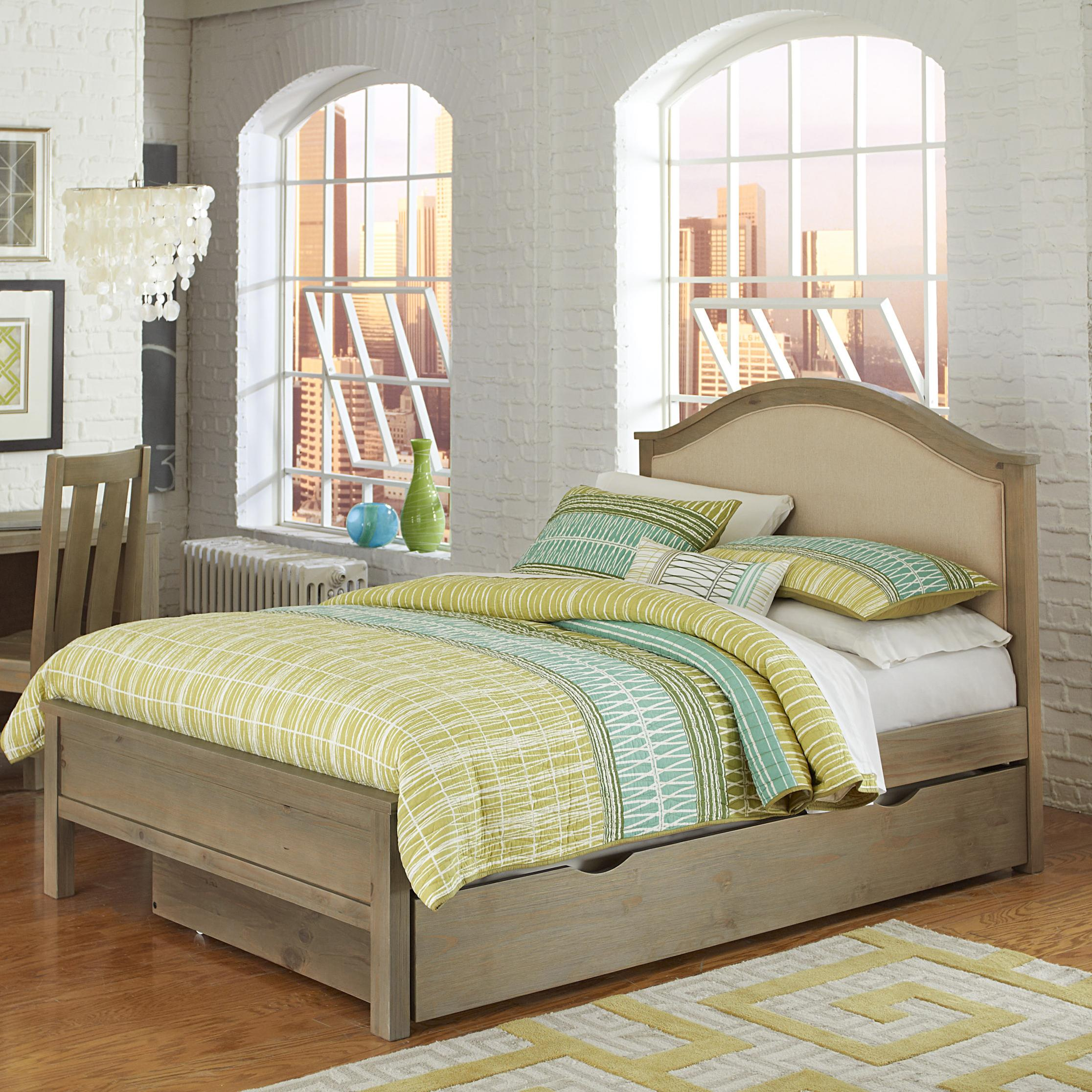 Highlands Full Bailey Upholstered Bed with Trundle by NE Kids at Stoney Creek Furniture