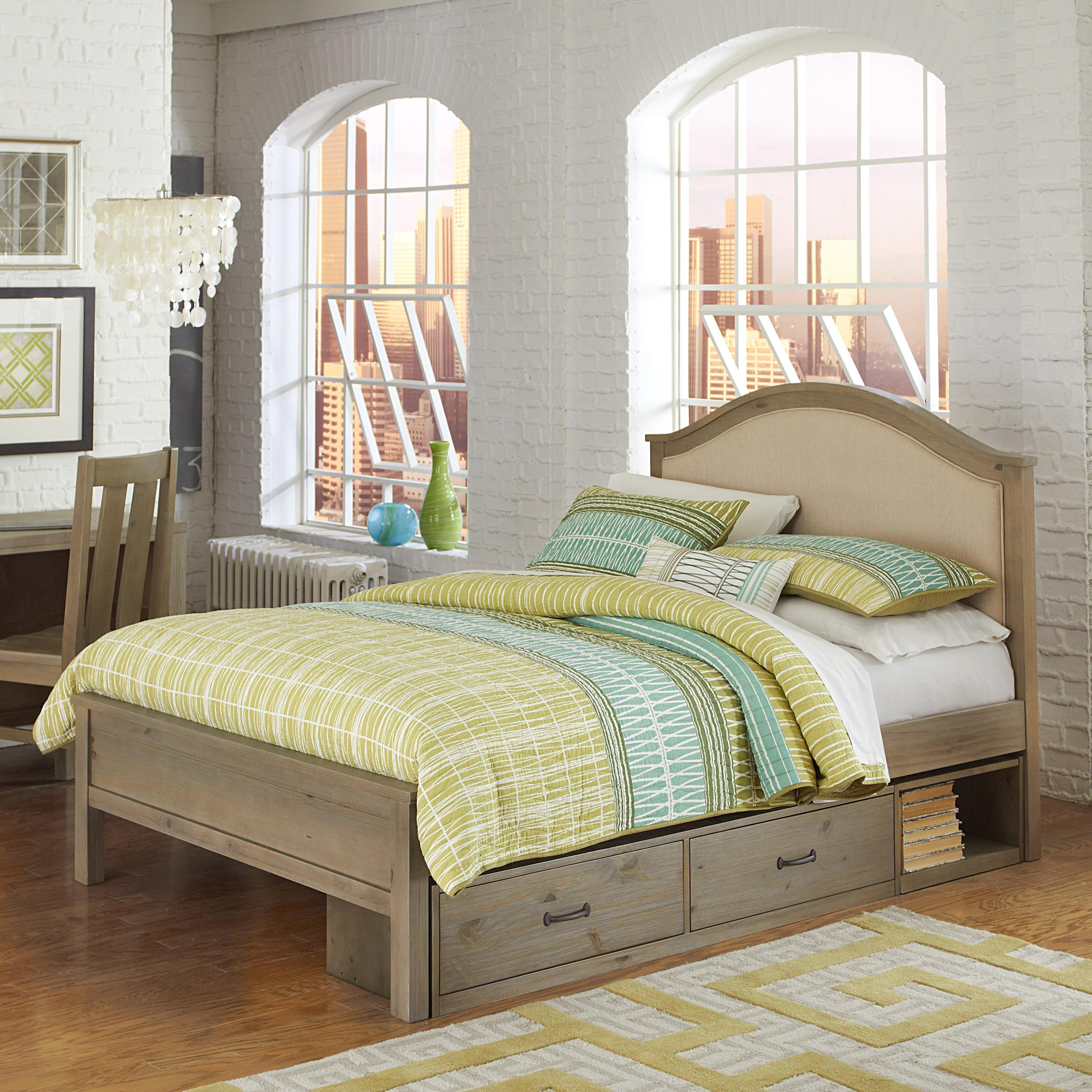 Highlands Full Bailey Upholstered Bed with Storage by NE Kids at Stoney Creek Furniture