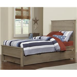 NE Kids Highlands Twin Alex Flat Panel Bed with Trundle