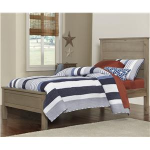 NE Kids Highlands Twin Alex Flat Panel Bed