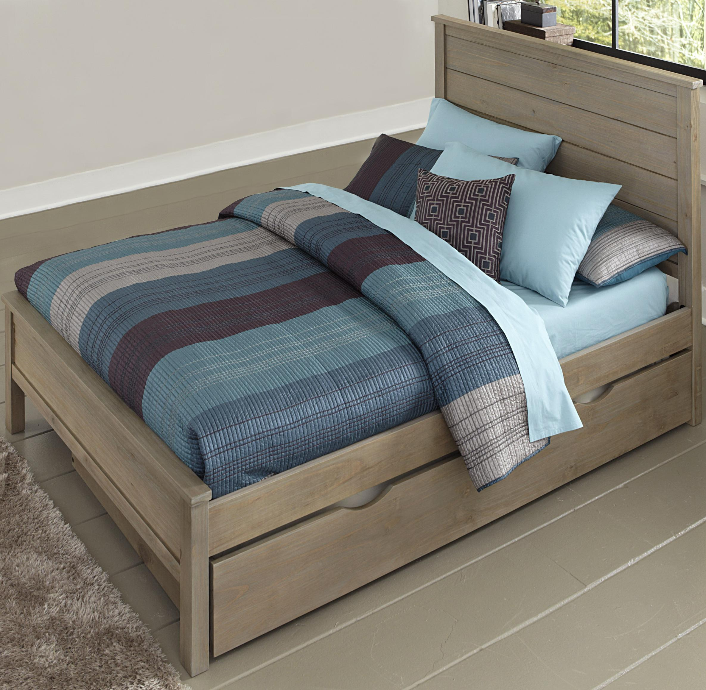 Highlands Full Alex Flat Panel Bed with Trundle by NE Kids at Stoney Creek Furniture