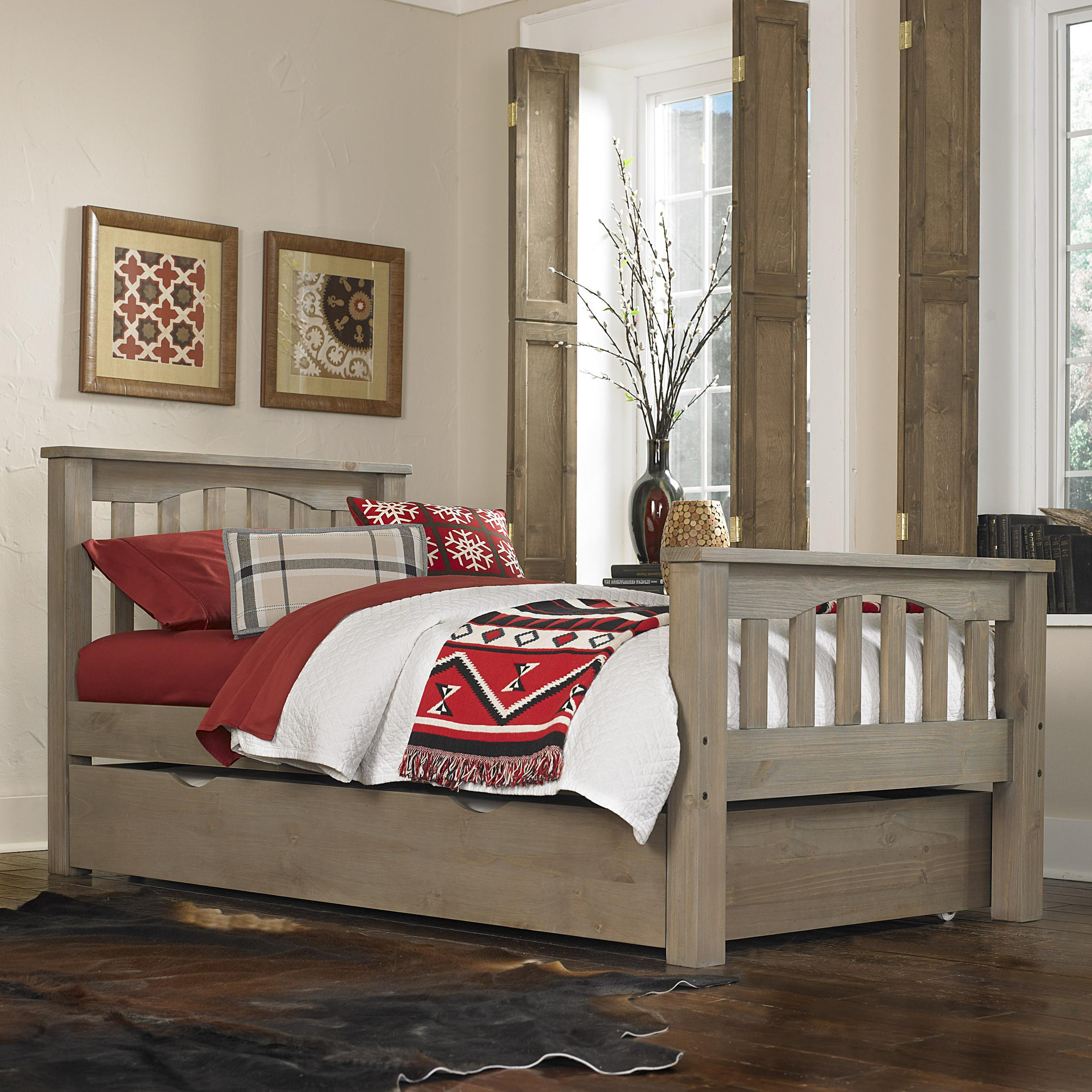 Highlands Twin Harper Bed with Trundle by NE Kids at Stoney Creek Furniture