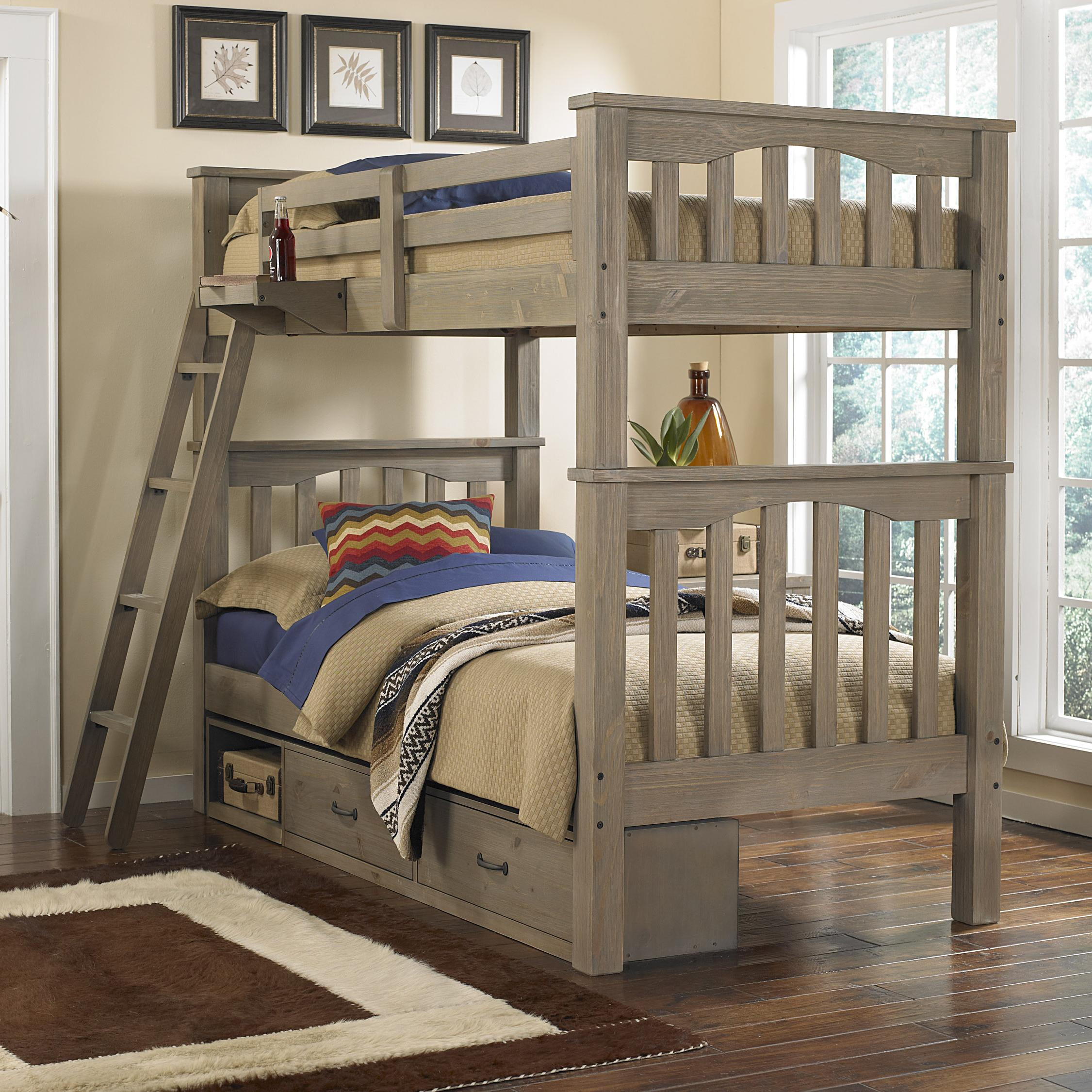 Highlands Twin Over Twin Harper Bunk Bed With Storage by NE Kids at Stoney Creek Furniture