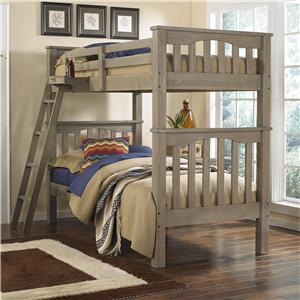 NE Kids Highlands Twin Over Twin Harper Bunk Bed
