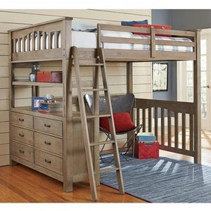 Mission Style Twin Loft Bed