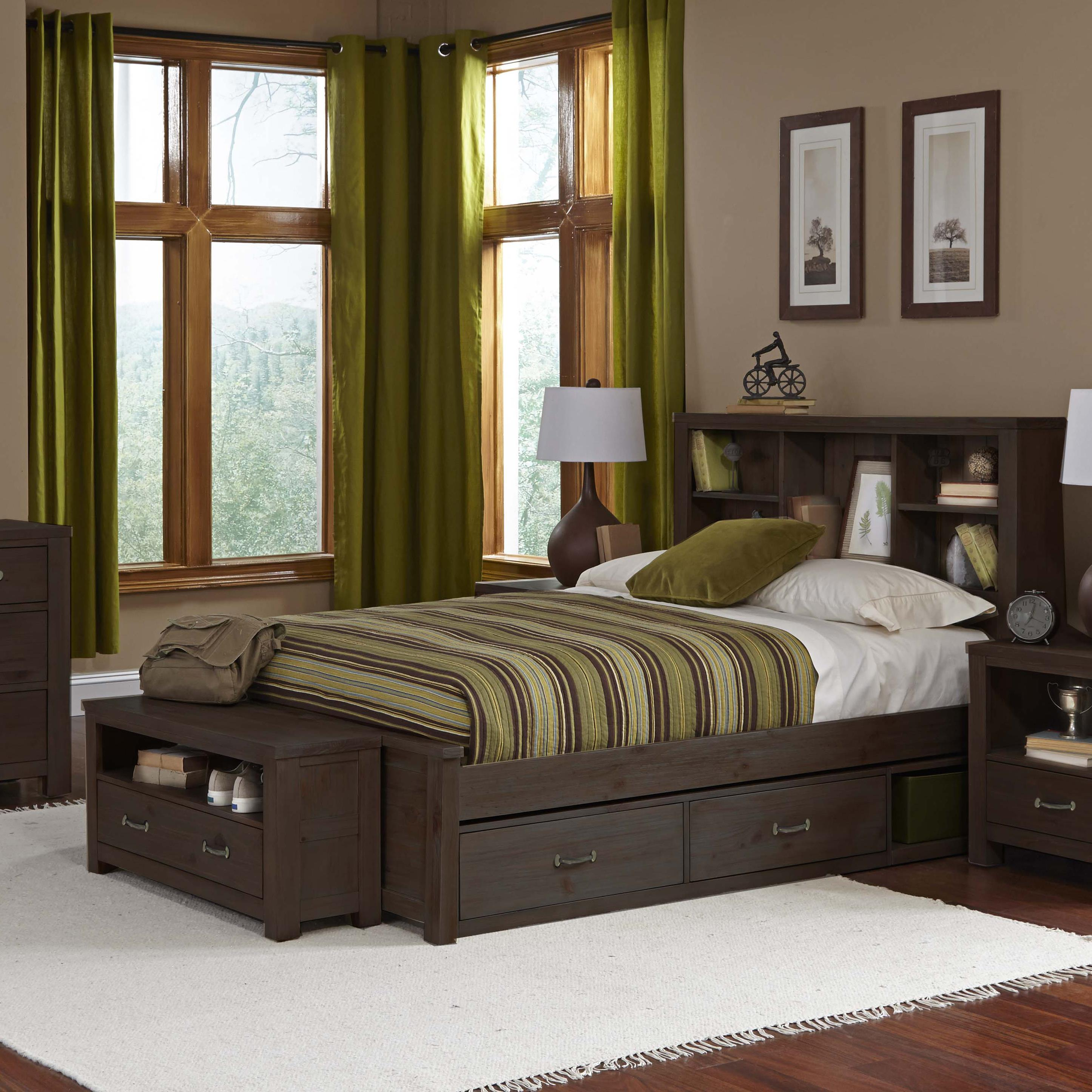 Highlands Twin Bookcase Bed with Underbed Storage by NE Kids at Stoney Creek Furniture