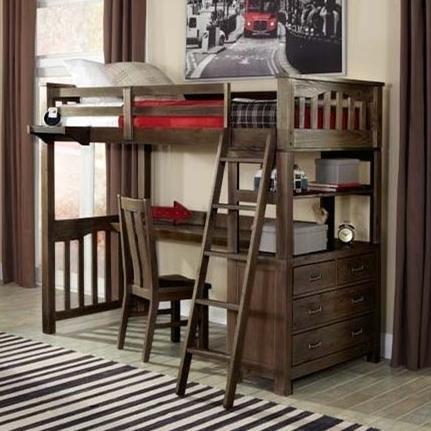 Highlands Full Loft Bed with Desk by NE Kids at Stoney Creek Furniture