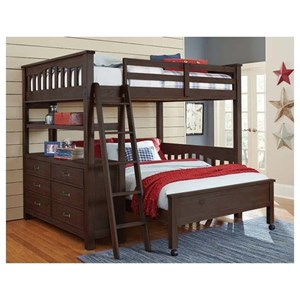 Full Loft Bed with Lower Bed