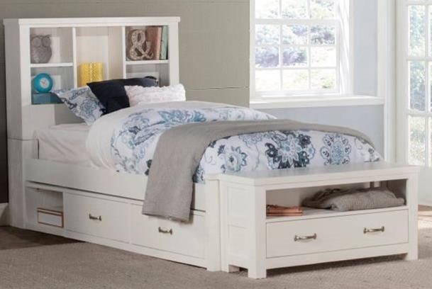 Highlands Twin Bookcase Bed with Underbed Storage by NE Kids at Westrich Furniture & Appliances