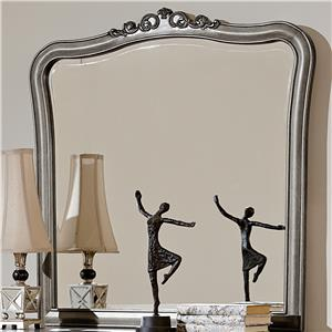 Dresser Mirror with Scroll Carving