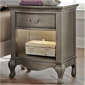 Nightstand with Drawer and Lighting