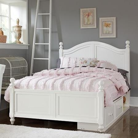 Lake House Full Payton (Arch) Bed + Storage Unit by NE Kids at Stoney Creek Furniture