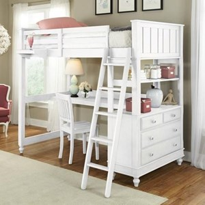 Twin Loft Bed with Desk and Chest