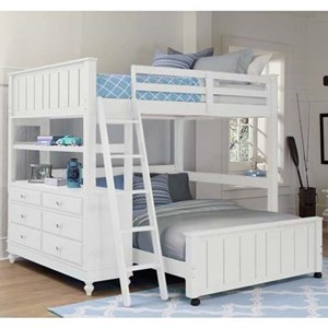 Lofted Full Bed with Full Lower Bed