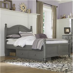 NE Kids Lake House Full Payton (Arch) Bed + Storage Unit