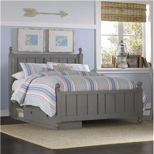 NE Kids Lake House Full Kennedy (Panel) Bed + Storage Unit