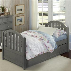 NE Kids Lake House Adrian Twin Bed + Trundle