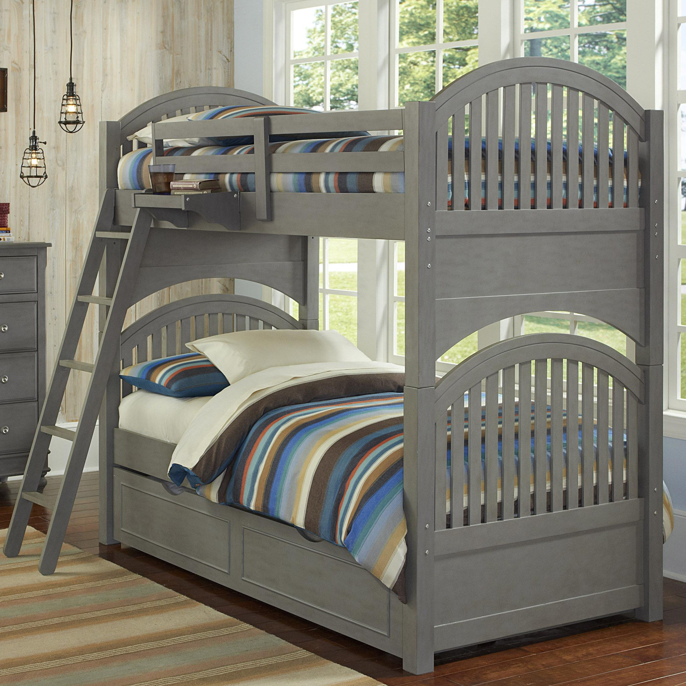 Lake House Adrian Twin over Twin Bunk + Trundle by NE Kids at Westrich Furniture & Appliances