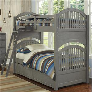 NE Kids Lake House Adrian Twin over Twin Bunk + Trundle