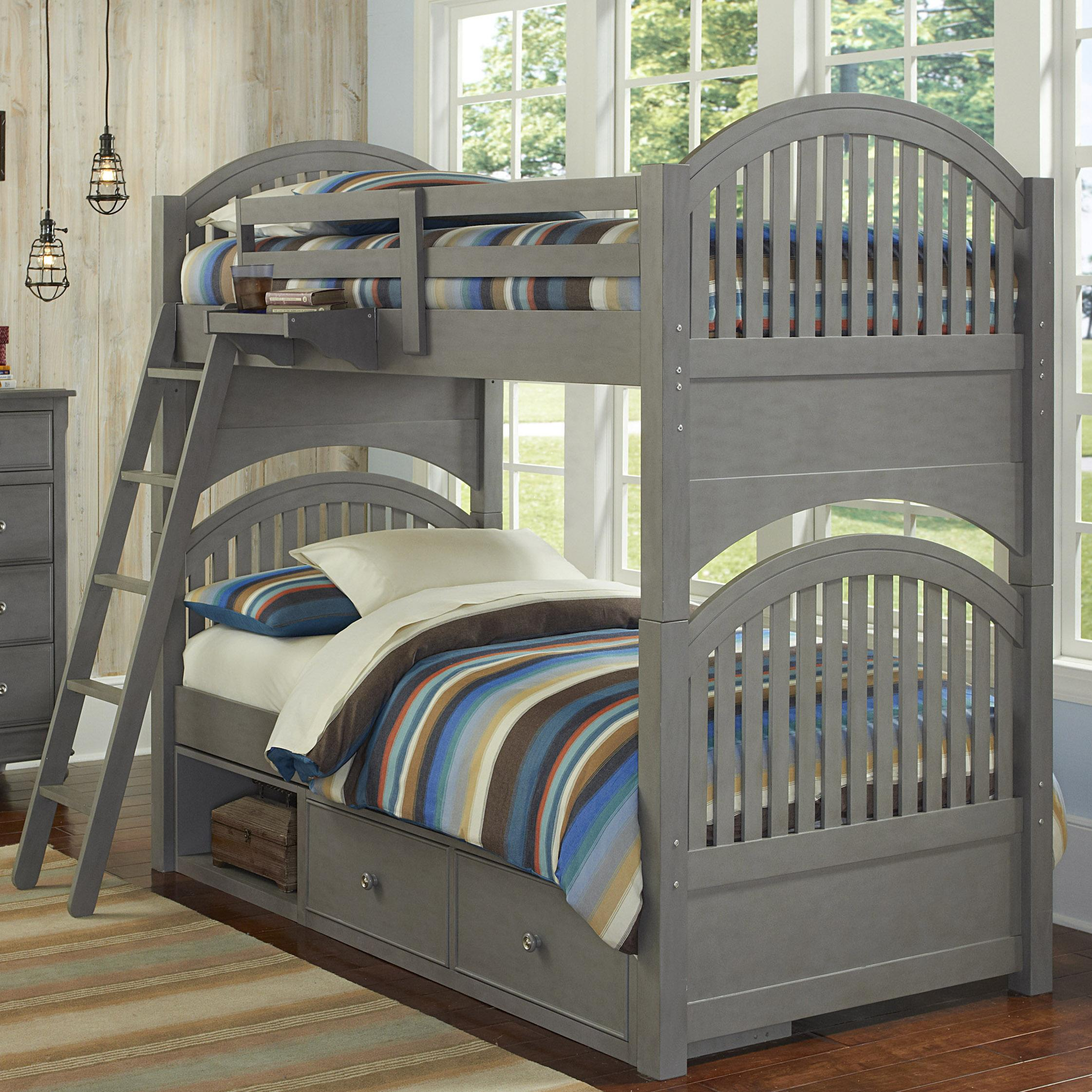 Lake House Twin over Twin Bunk and Storage Unit by NE Kids at Stoney Creek Furniture
