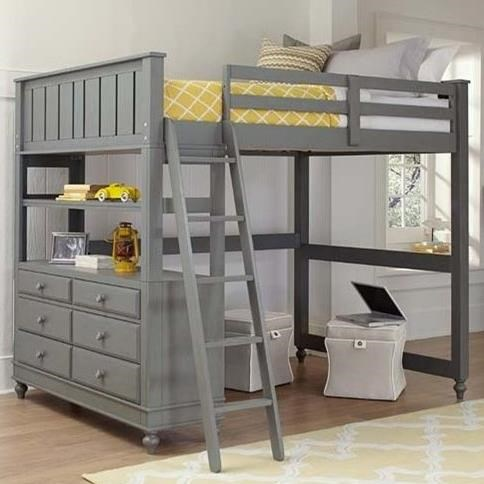 Lake House Lofted Full Bed by NE Kids at Furniture Barn