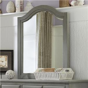 Beveled Edge Mirror with Arched Frame
