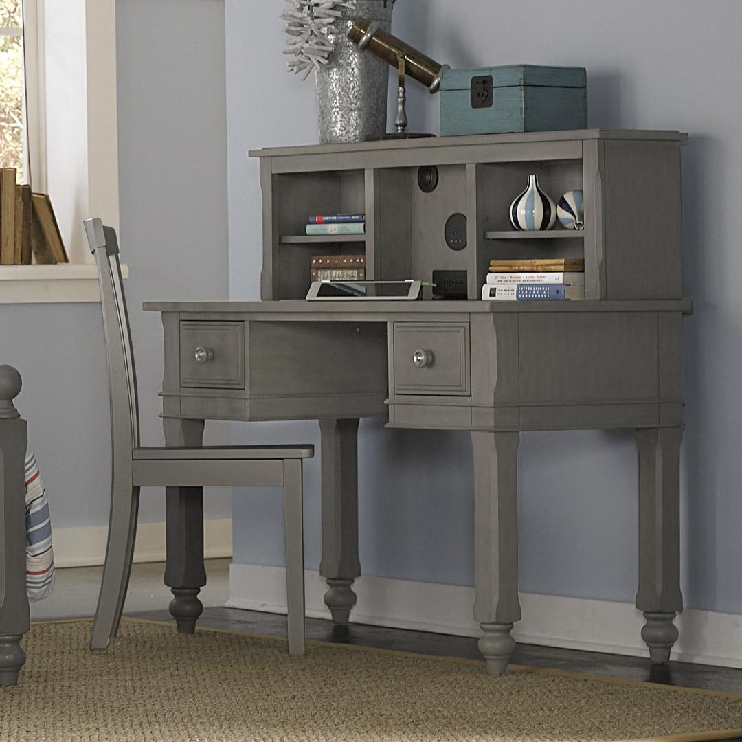 Lake House Writing Desk + Desk Hutch + Chair by NE Kids at Westrich Furniture & Appliances