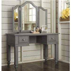 NE Kids Lake House Writing Desk + Vanity Jewelry Mirror