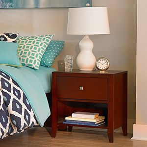 One Drawer Night Table with Shelf