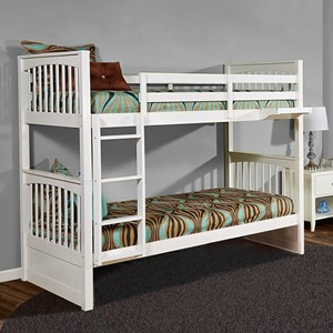 Mission Style Twin Over Twin Bunk Bed
