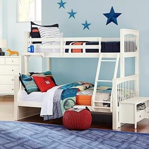 Mission Style Twin Over Full Bunk Bed
