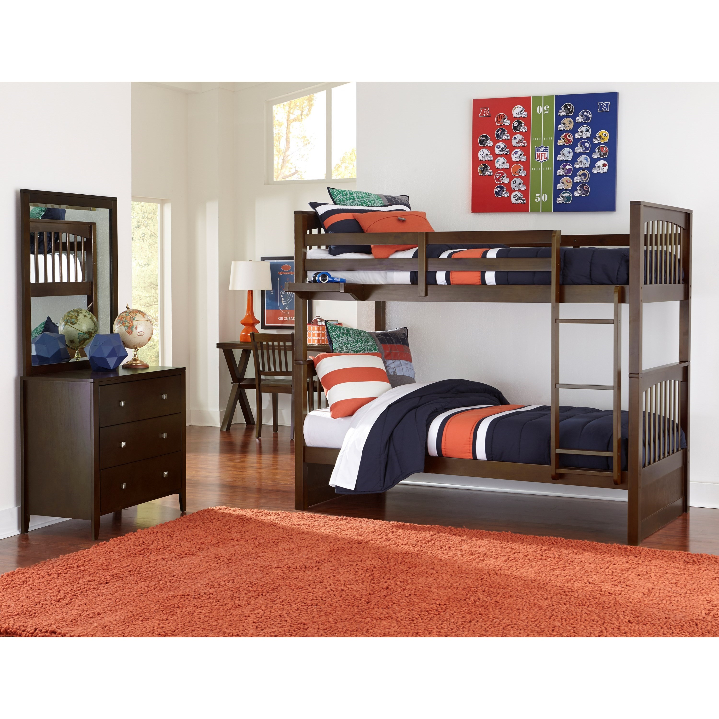 Pulse Twin Bedroom Group by NE Kids at Goffena Furniture & Mattress Center