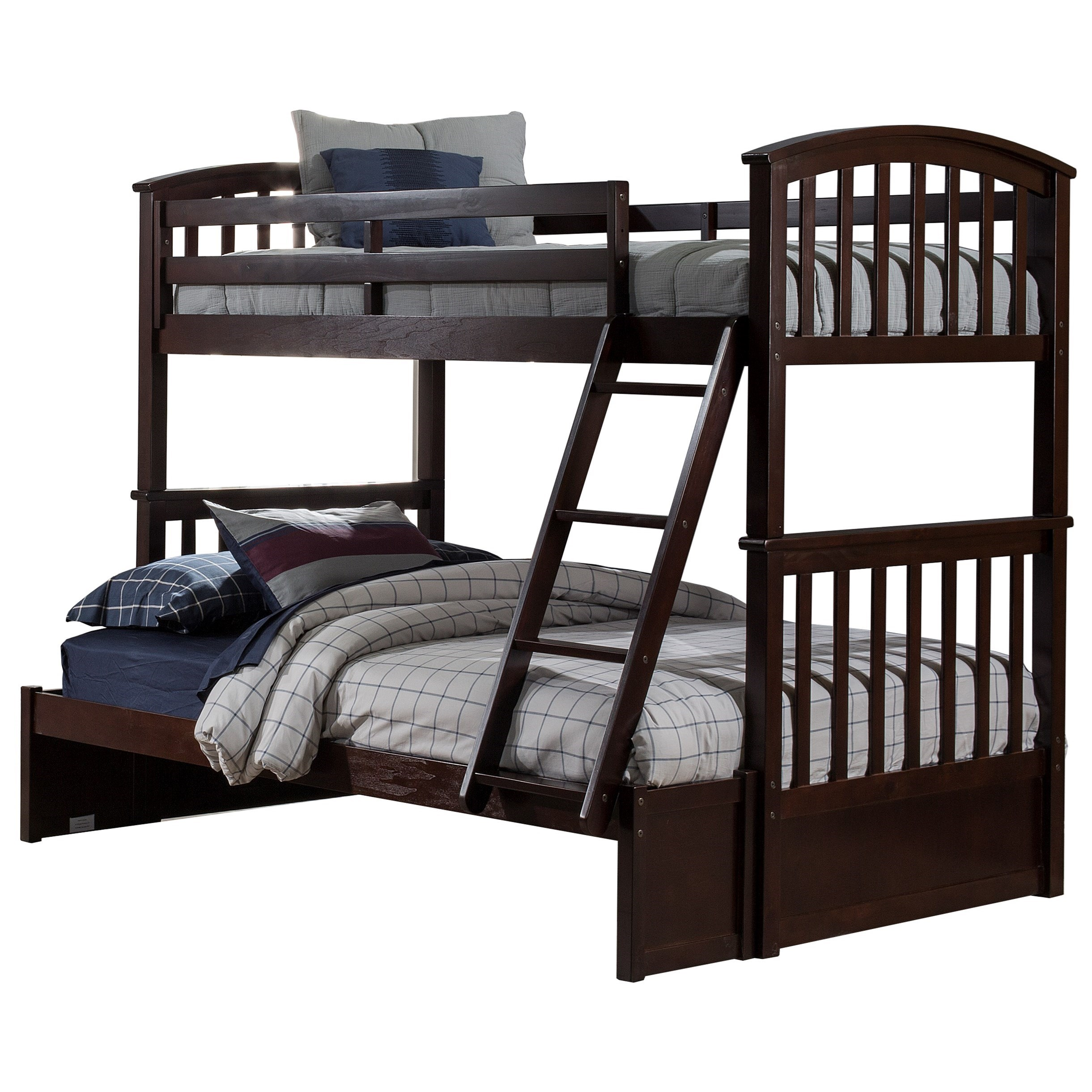 Schoolhouse 4.0 Twin Over Full Bunk Bed by NE Kids at Goffena Furniture & Mattress Center