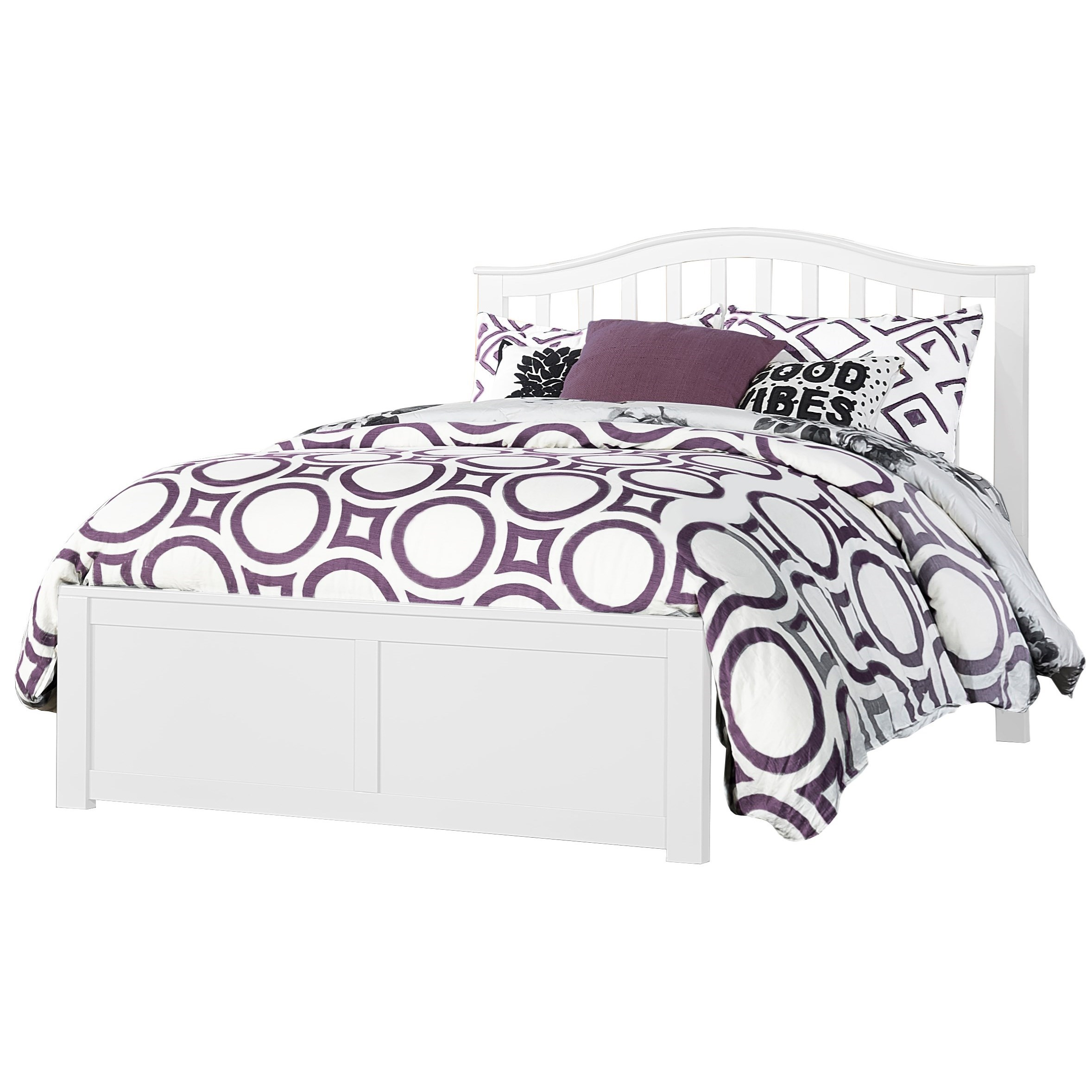 Schoolhouse 4.0 Full Arch Spindle Platform Bed by NE Kids at Darvin Furniture