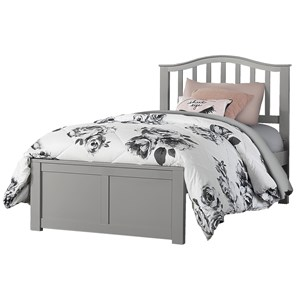 Twin Arch Spindle Platform Bed
