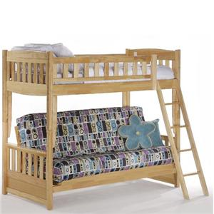 NE Kids Spice Natural Spice Futon Bunk Bed