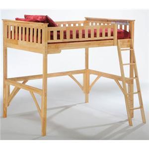 NE Kids Spice Natural Twin Spice Ginger Loft Bed