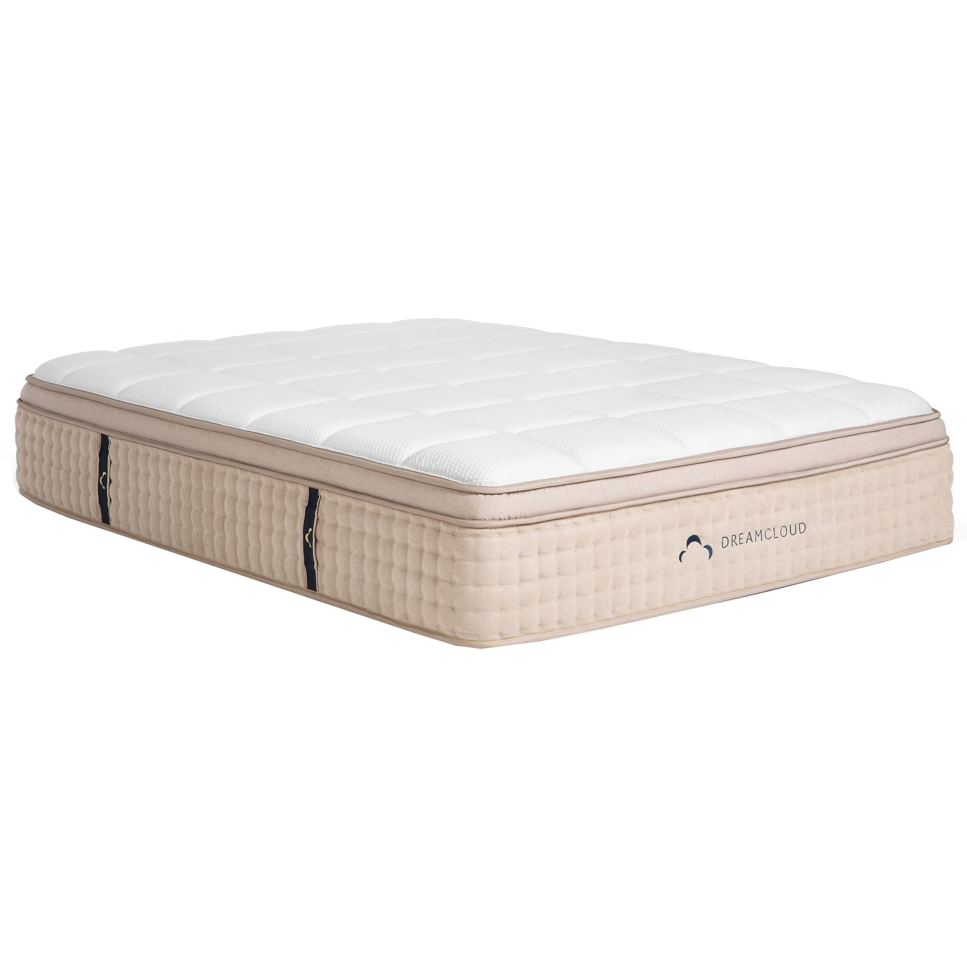 """Dream Cloud Premier Euro Top Full 15"""" Hybrid Euro Top Mattress by DreamCloud at Rooms and Rest"""