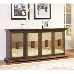 Mirrored 4 Door Credenza