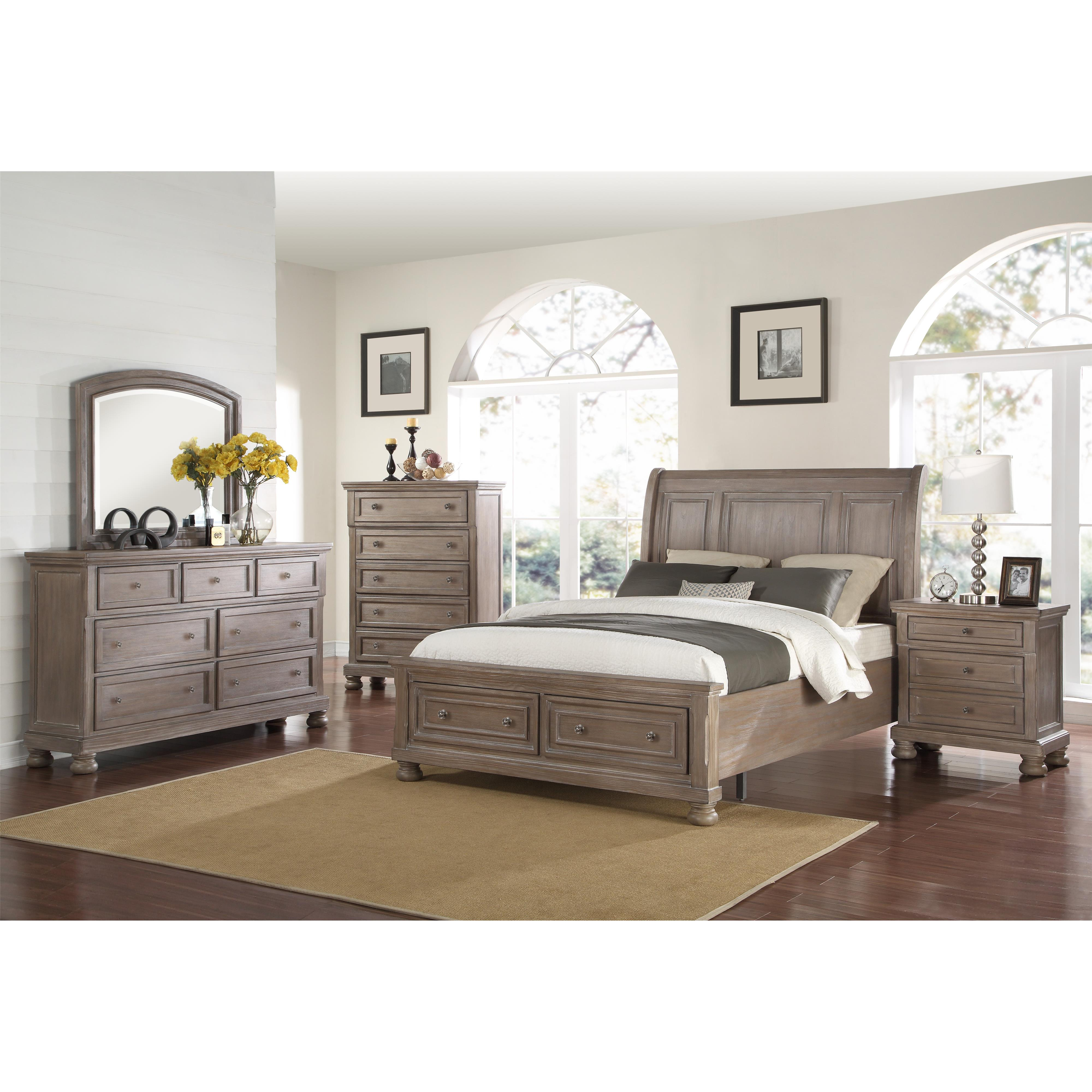 Allegra California King Bedroom Group by New Classic at Carolina Direct