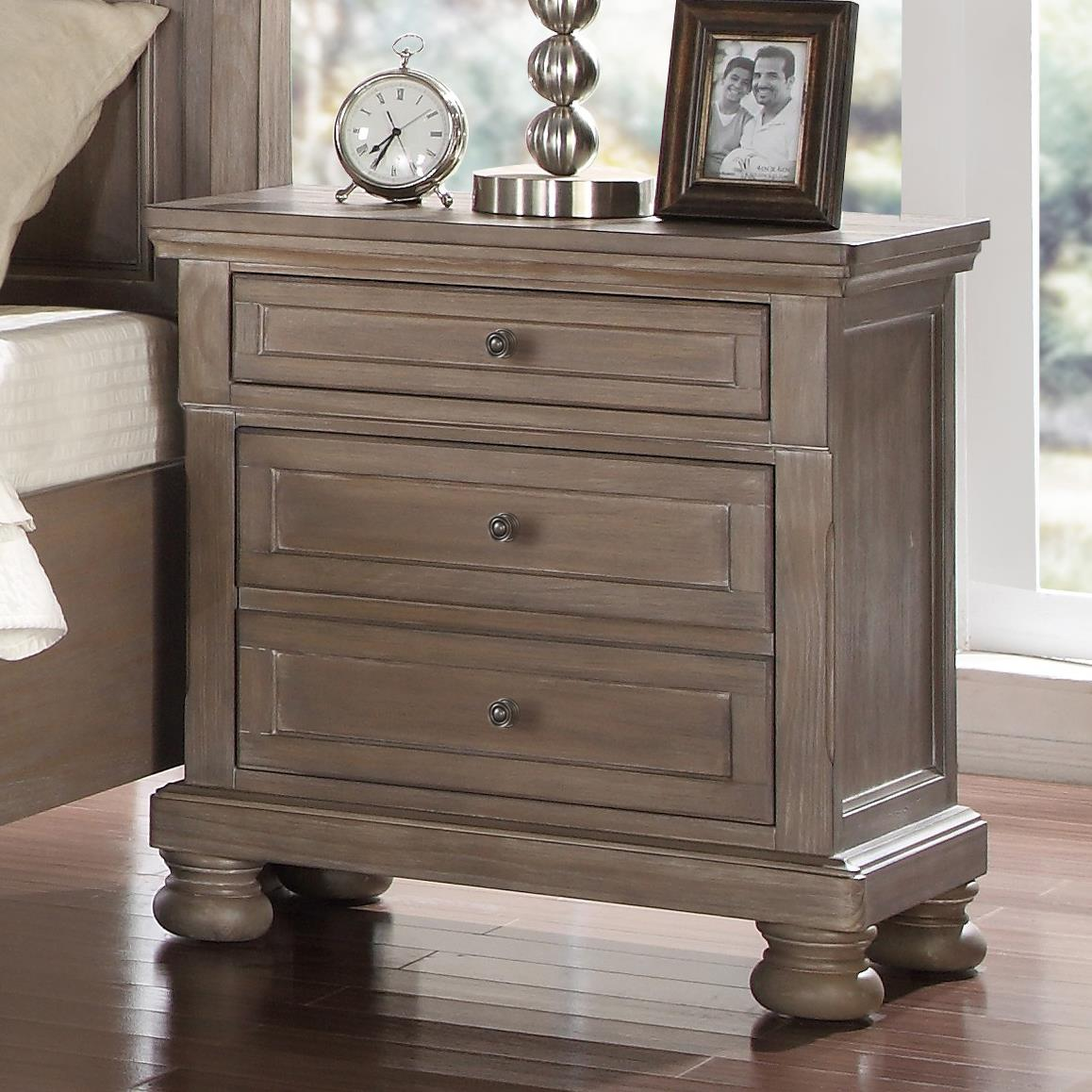 Allegra Nightstand by New Classic at Beds N Stuff
