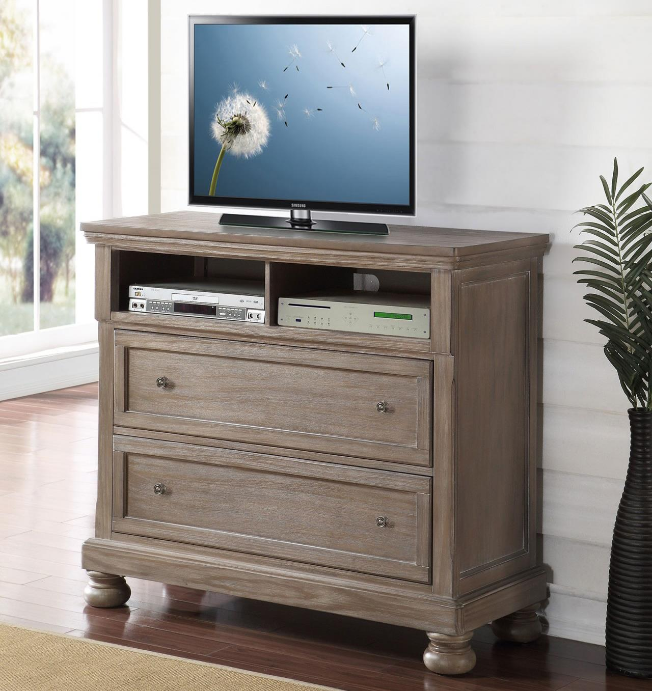 Allegra Media Console by New Classic at Carolina Direct