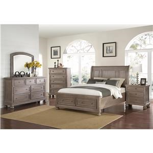3 Piece Bedroom Set Includes Queen Bed, Dresser & Mirror