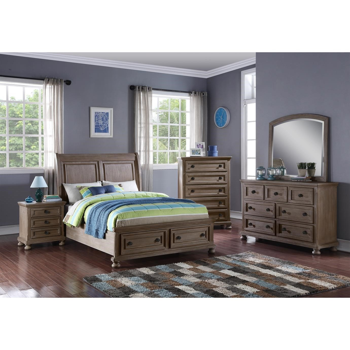 Allegra Twin Bedroom Group by New Classic at Beds N Stuff