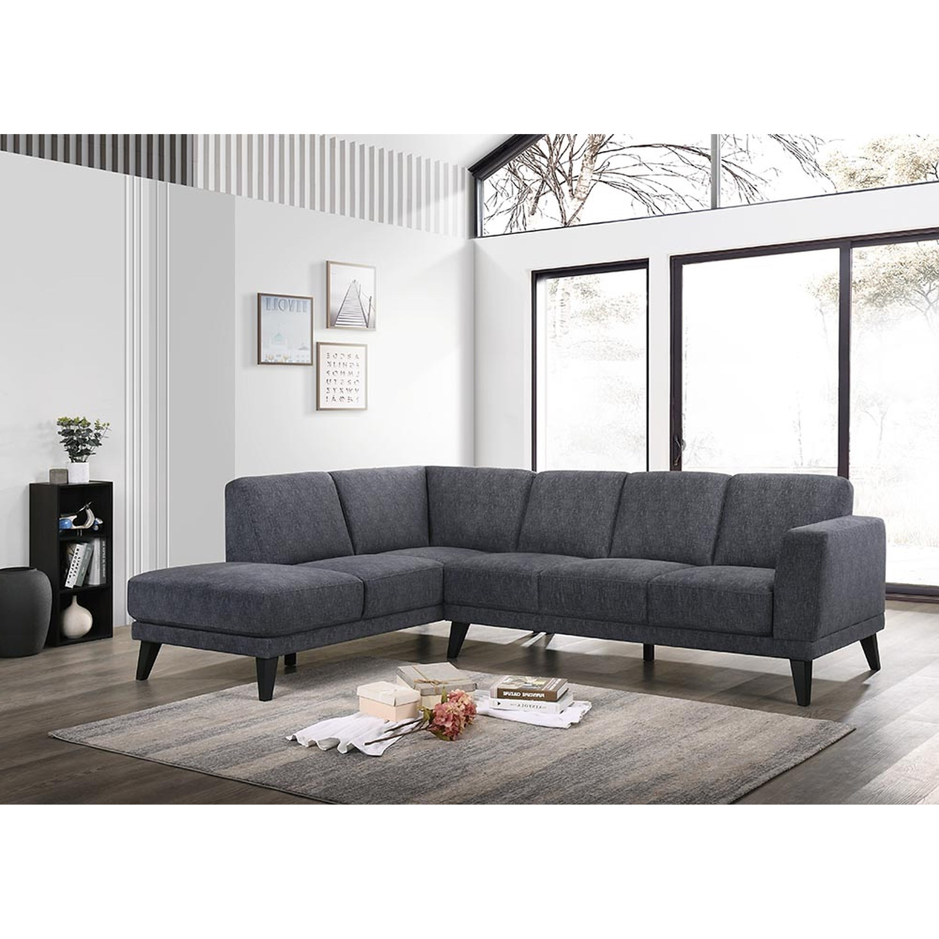 Altamura 5-Seat Sectional w/ LAF Chaise by New Classic at Carolina Direct