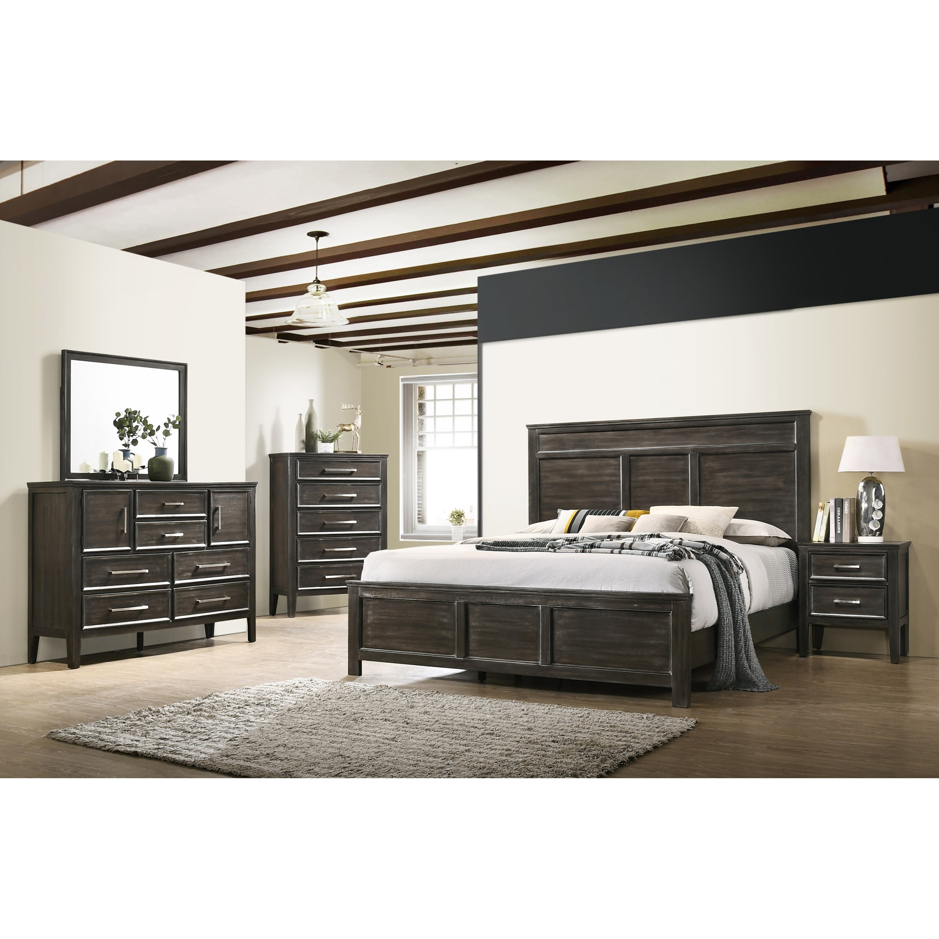 Andover King Bedroom Group by New Classic at Carolina Direct