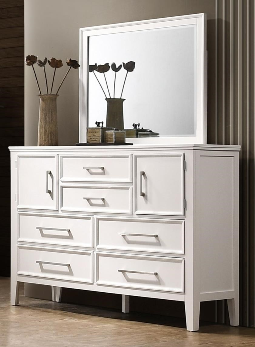 Andover Dresser and Mirror Set by New Classic at Carolina Direct
