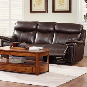 Casual Dual Recliner Power Sofa with Pillow Arms