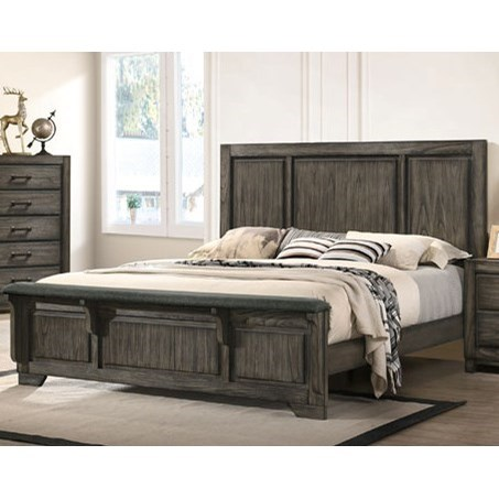 Ashland King Panel Bed by New Classic at Beds N Stuff
